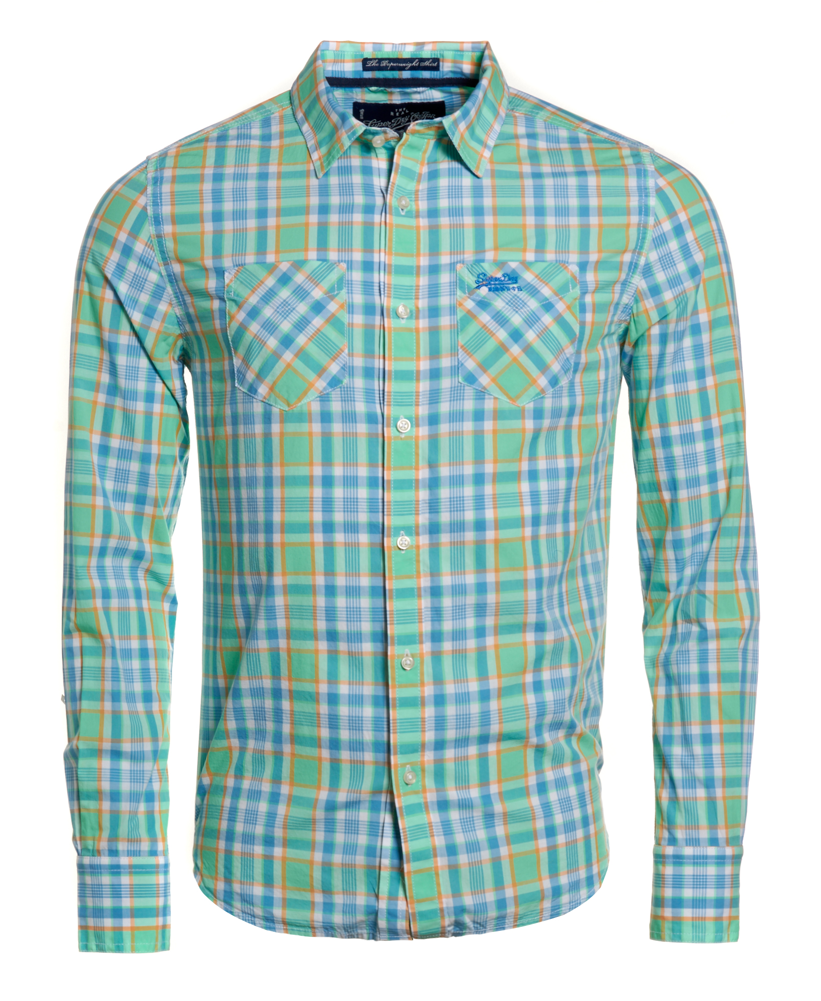 New mens superdry paperweight madras shirt attwood vintage for Mens madras shirt sale