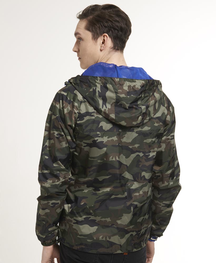 New-Mens-Superdry-Zip-Through-Cagoule-Jacket-Army-Camo-Green-AA