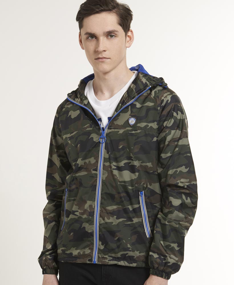 neue herren superdry windcheater jacke army camo gr n. Black Bedroom Furniture Sets. Home Design Ideas