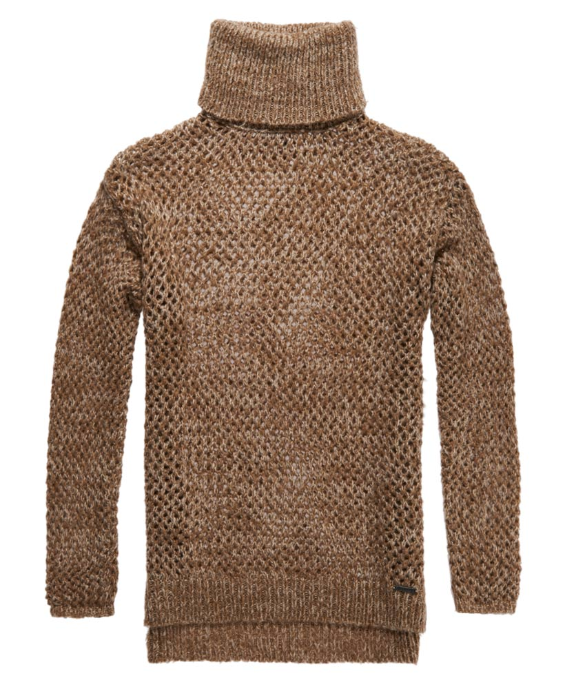 Midweight knit fabric Tiger face print Roll neck Long sleeve Cuffed trims Our model wears a UK 8 and is cm/5'9'' tall.