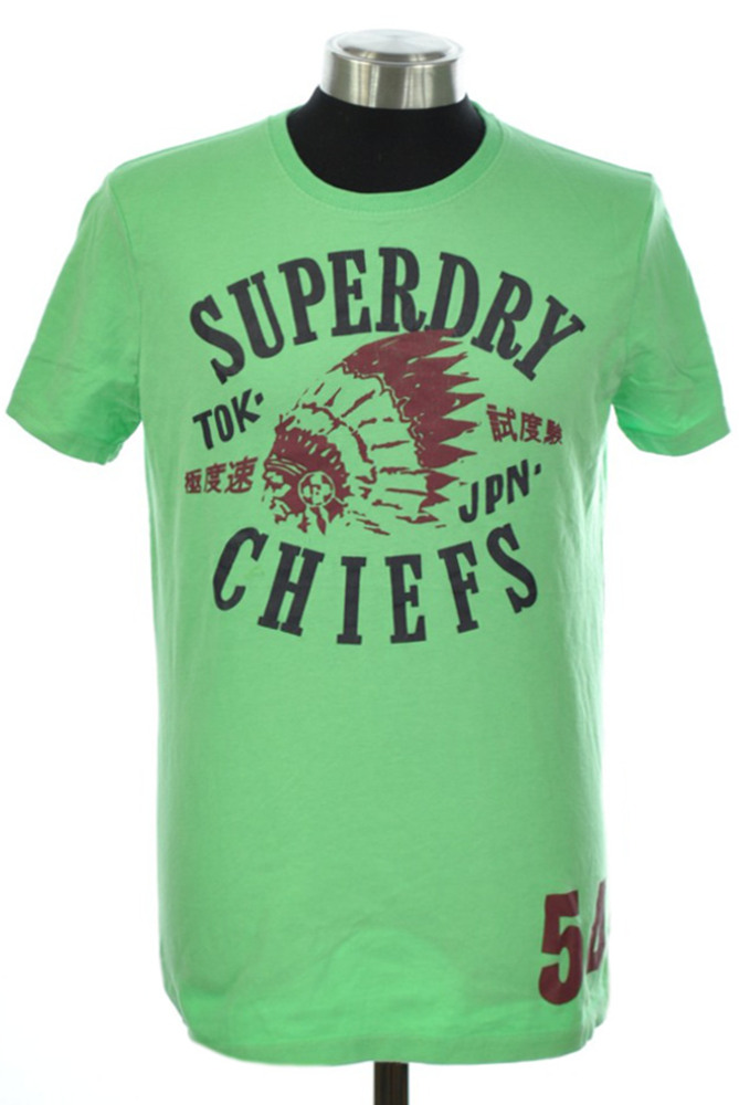about new mens superdry factory second chiefs t shirt mint green. Black Bedroom Furniture Sets. Home Design Ideas