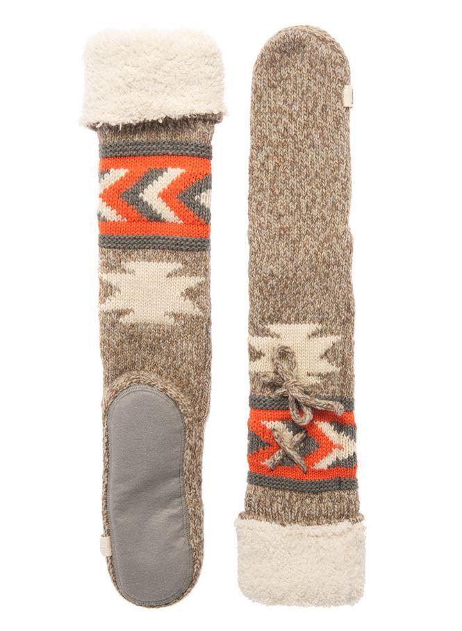 NEW Womens Superdry Navajo Slipper Socks Buffalo Brown   EBay