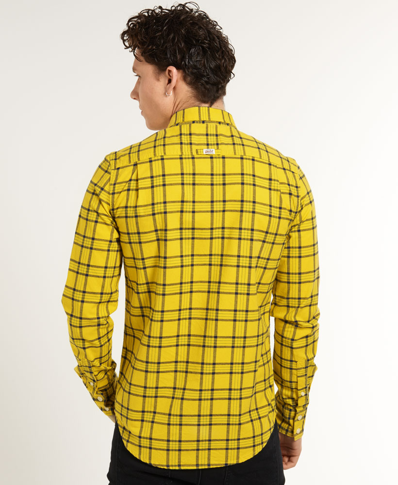 Yellow Gingham Mens Shirt