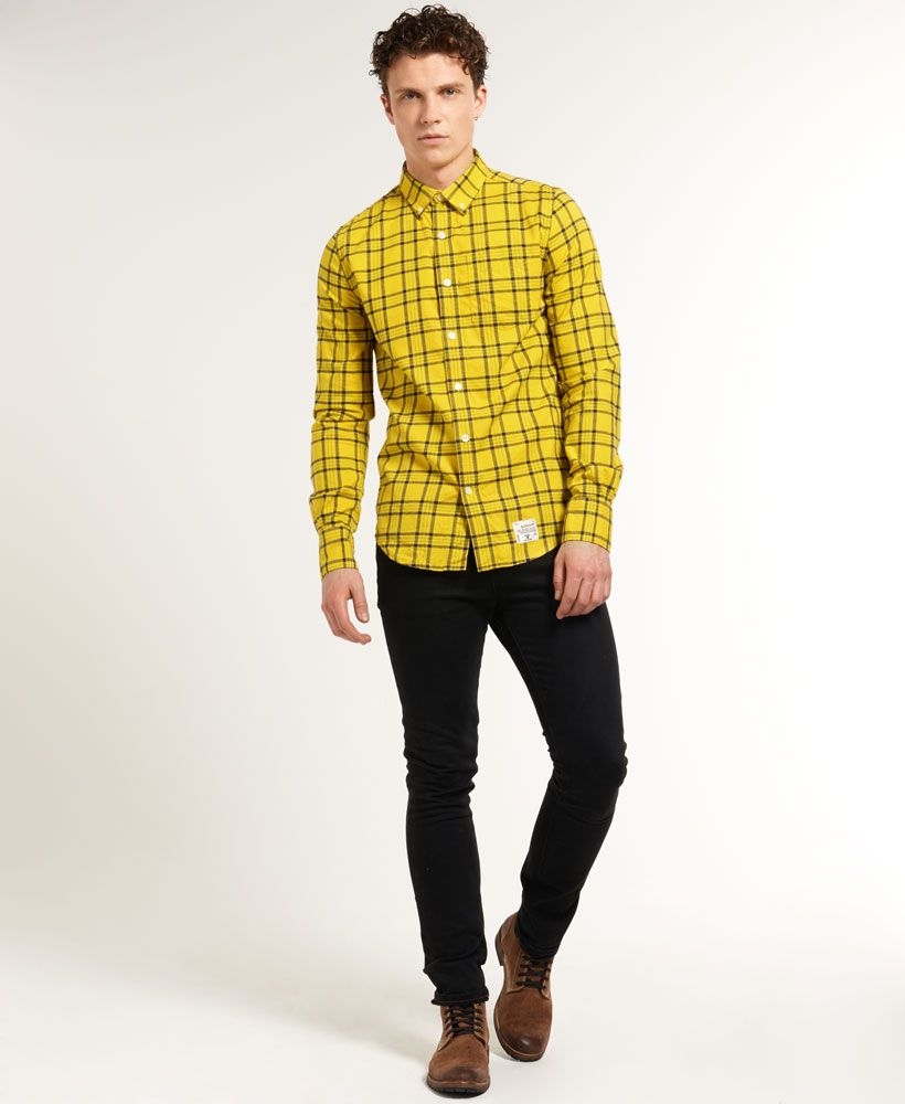 New Mens Superdry Dry Oxford Check Shirt Harvard Check Yellow | eBay