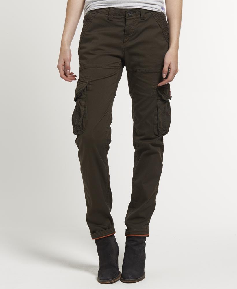 New Womens Superdry Skinny Core Cargo Lite Pants Trousers Deep ...