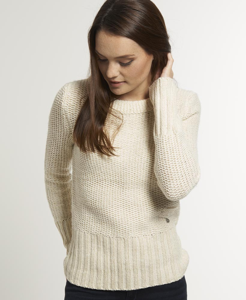 Women'S Cream Sweater 100