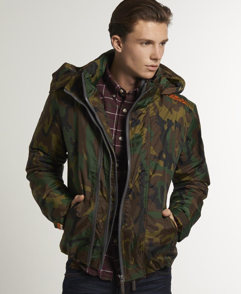 neue herren superdry wind camper jacke camo ebay. Black Bedroom Furniture Sets. Home Design Ideas