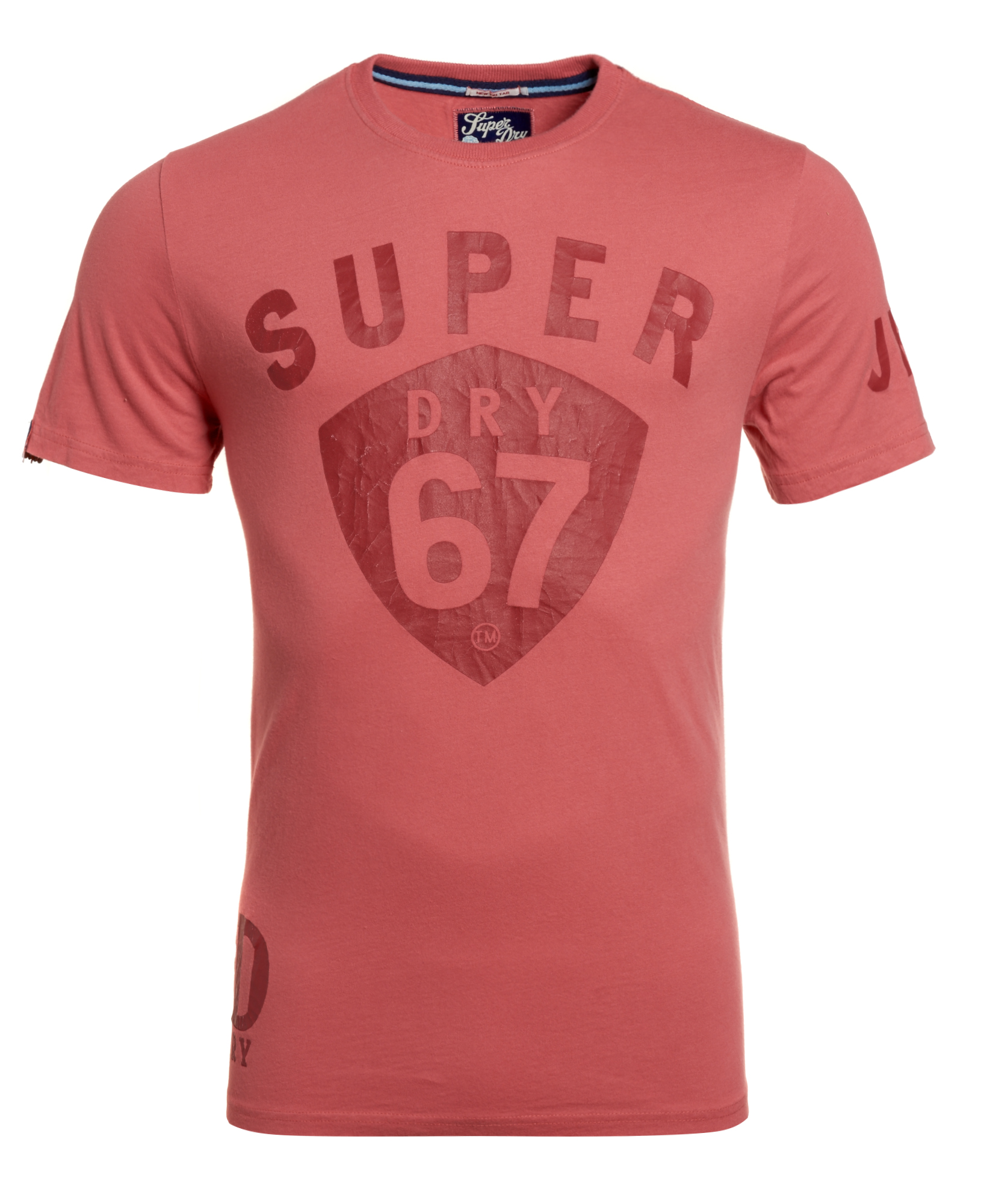 New mens factory second tin tab 67 t shirt dark coral for Coral shirts for guys