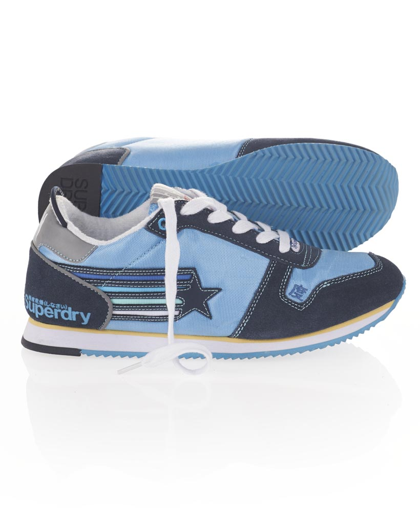 new womens superdry sprint sneakers indigo blue ebay