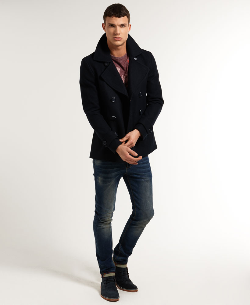 Mens Pea Coat Slim Fit Canada - Tradingbasis