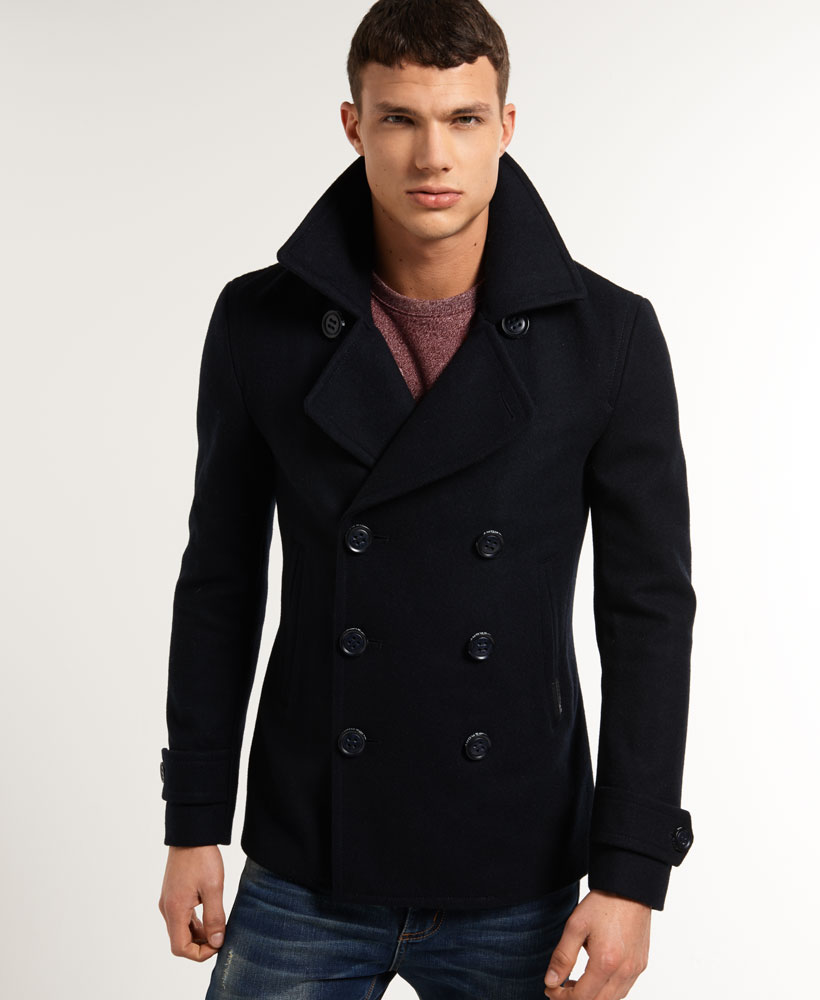 New Mens Superdry Commodity Slim Peacoat Dark Navy | eBay