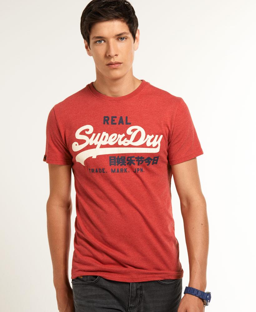 superdry vintage logo t shirt red marl 14 99 description superdry. Black Bedroom Furniture Sets. Home Design Ideas