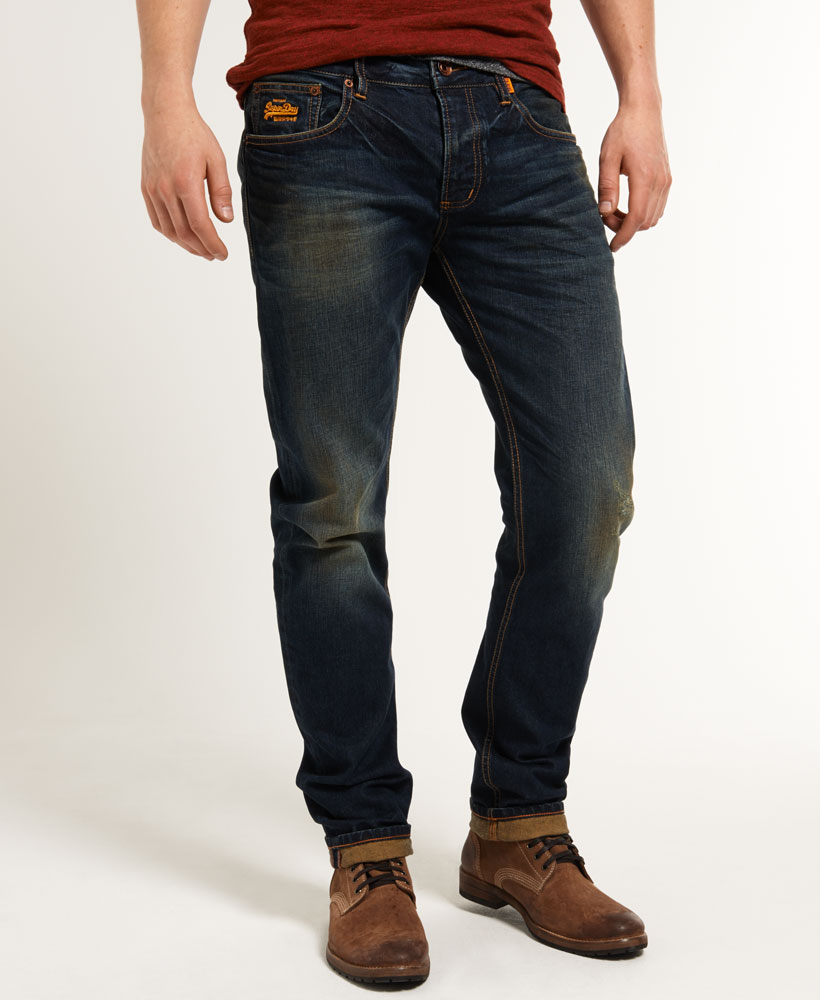 New Mens Superdry Copperfill Loose Jeans Artisan Vintage