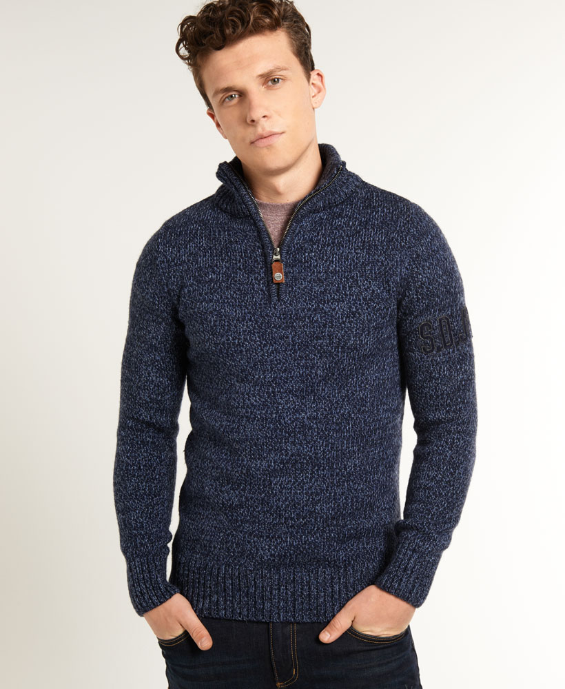 neues herren superdry sweatshirt henley blau twist ebay. Black Bedroom Furniture Sets. Home Design Ideas