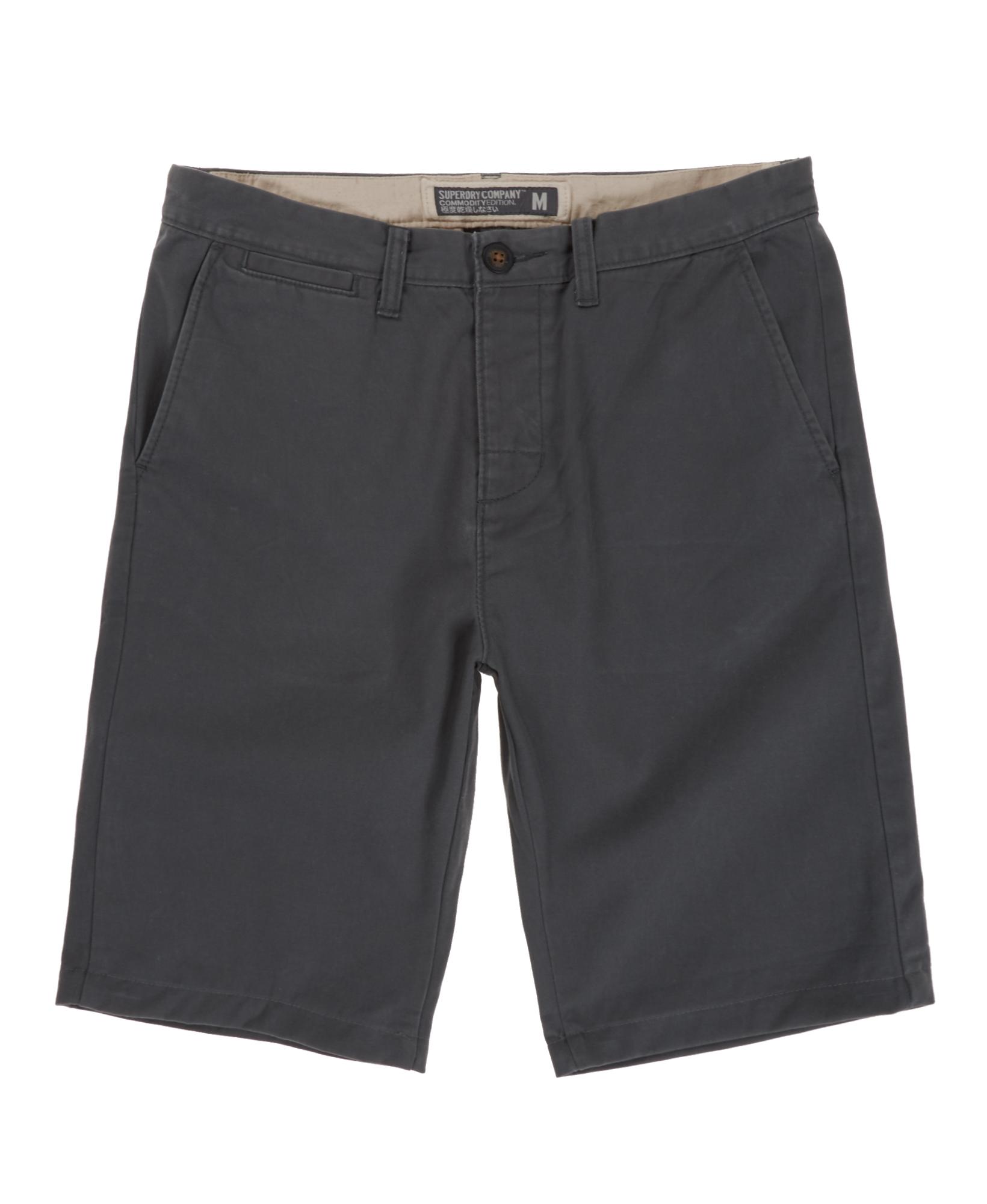 New Mens Superdry Commodity Skinny Chino Shorts Grey | eBay