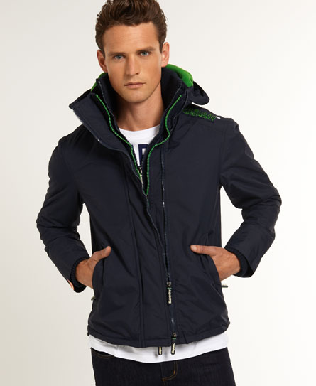 neue herren superdry arctic windcheater jacke blau ebay. Black Bedroom Furniture Sets. Home Design Ideas