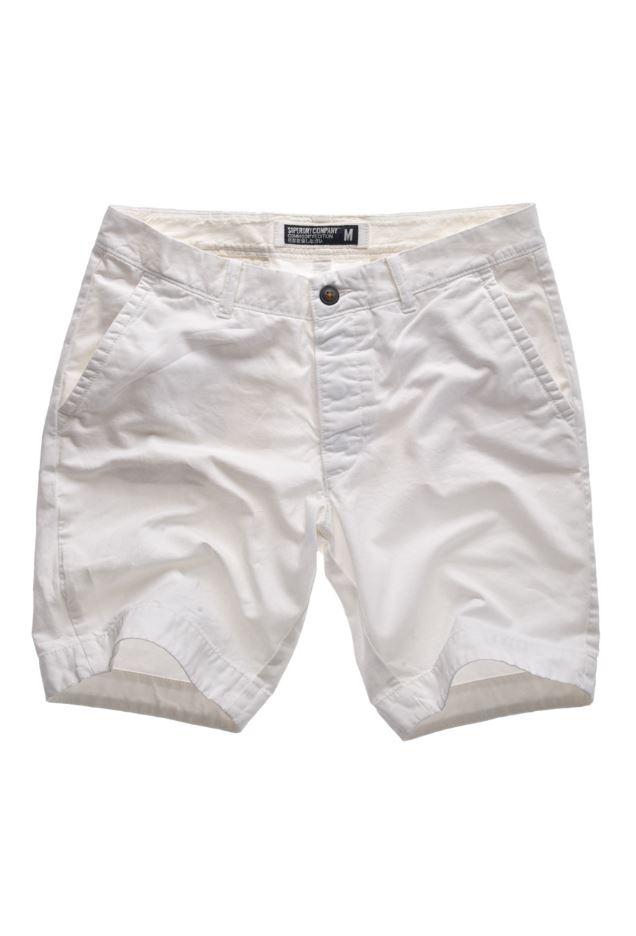 White Chino Mens Chino Shorts Optic White |