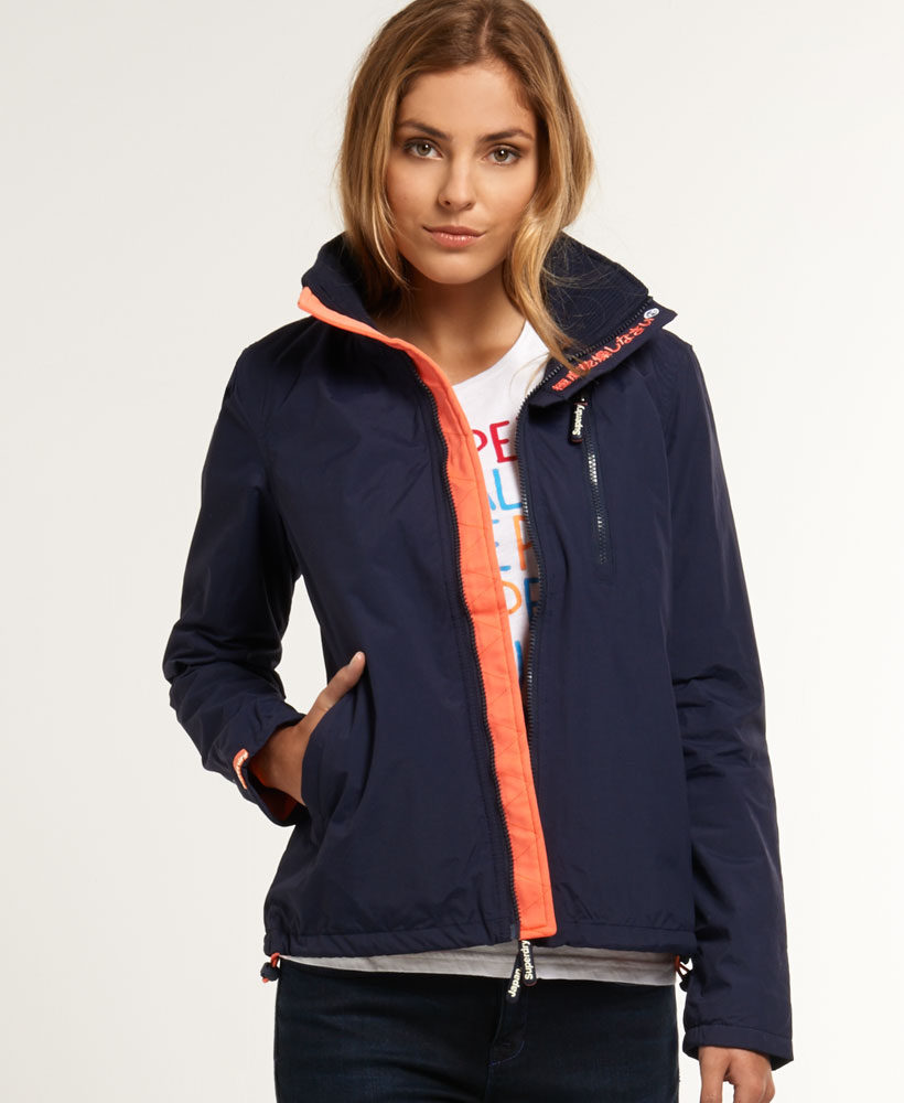 neue damen superdry polar windhiker jacke nautical blau ebay. Black Bedroom Furniture Sets. Home Design Ideas
