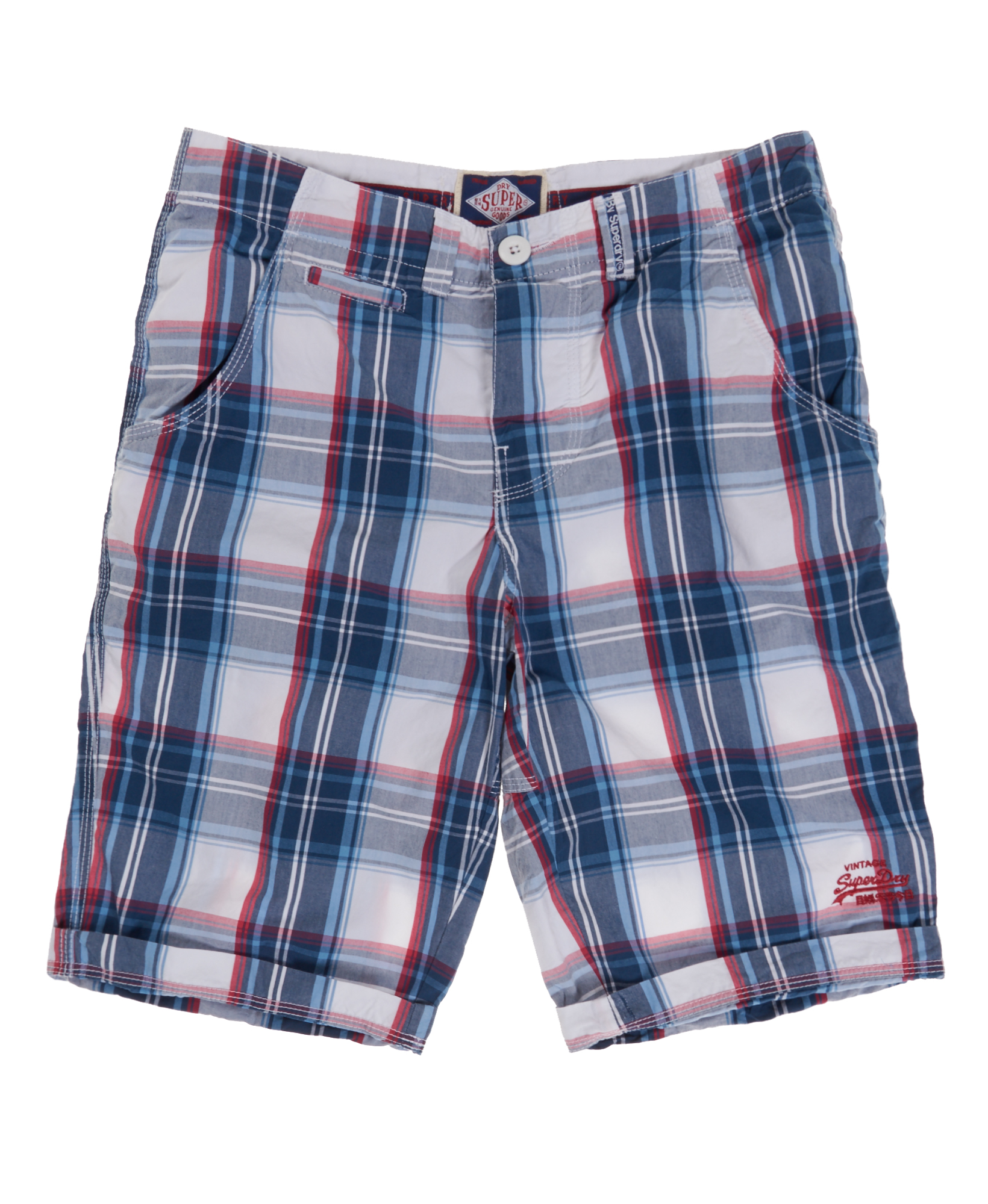 New Mens Superdry Poolside Washbasket Shorts Bermuda Check Blue | eBay
