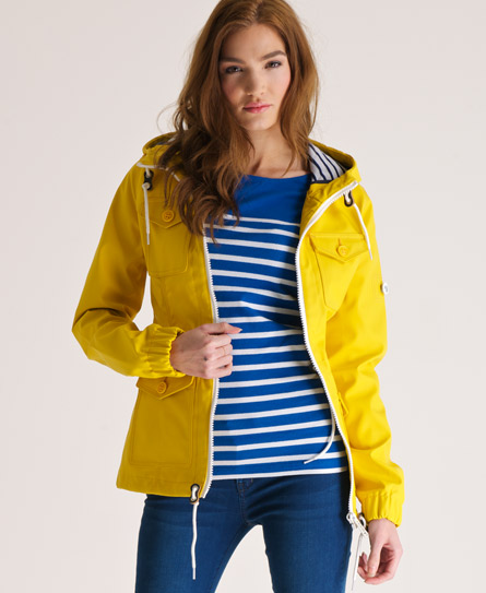 New Womens Superdry Boat Jacket Trawler Yellow Ebay