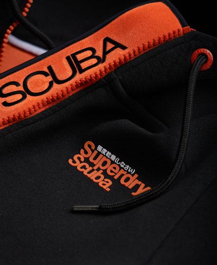 New Mens Superdry Scuba Zip Hoodie Black
