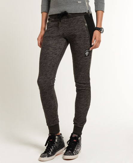 neue damen superdry biker jogginghose schwarz gravel marl ebay. Black Bedroom Furniture Sets. Home Design Ideas