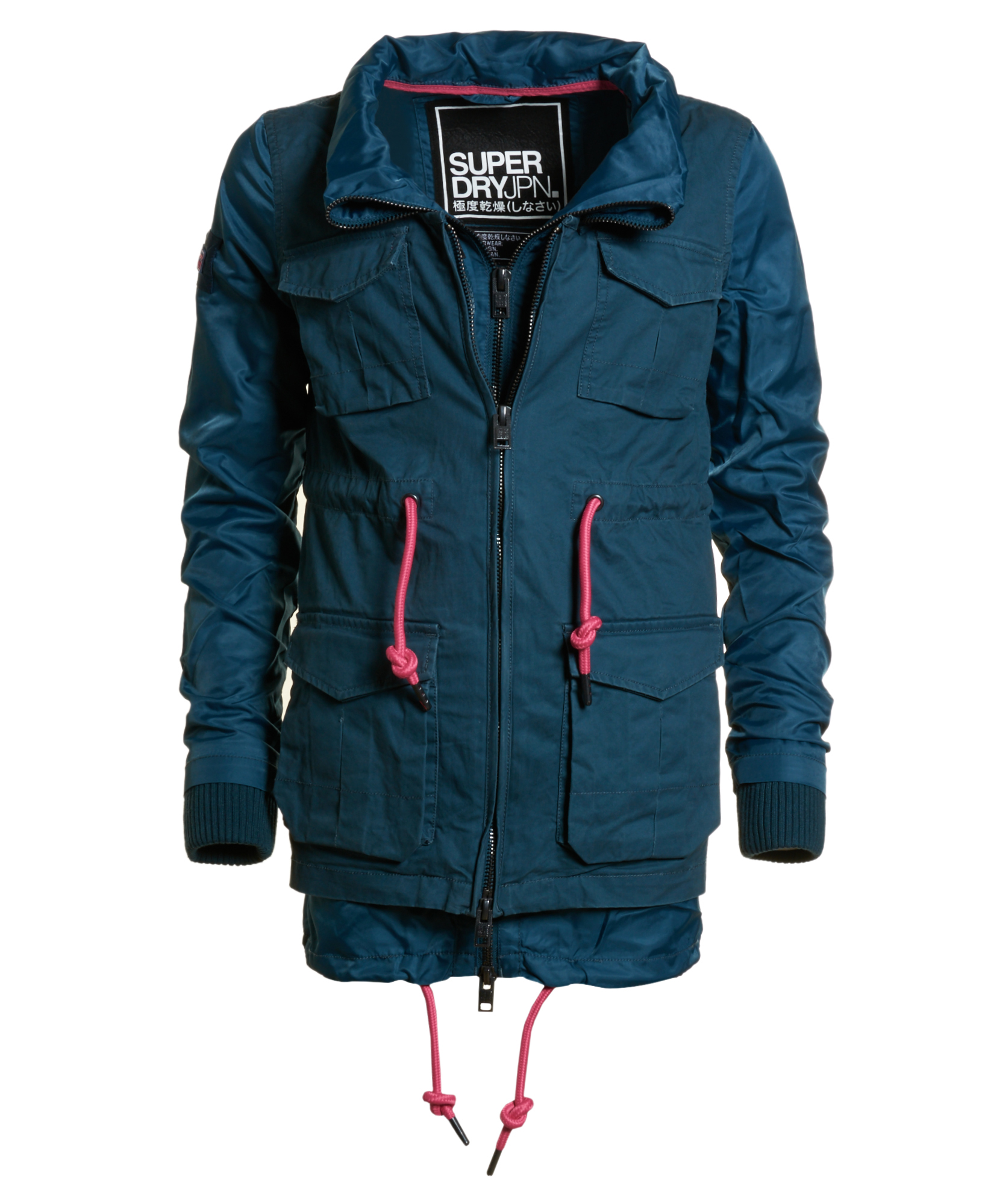 New Womens Superdry Freefall 2 In One-Parka Jacket Petrol Mix | eBay
