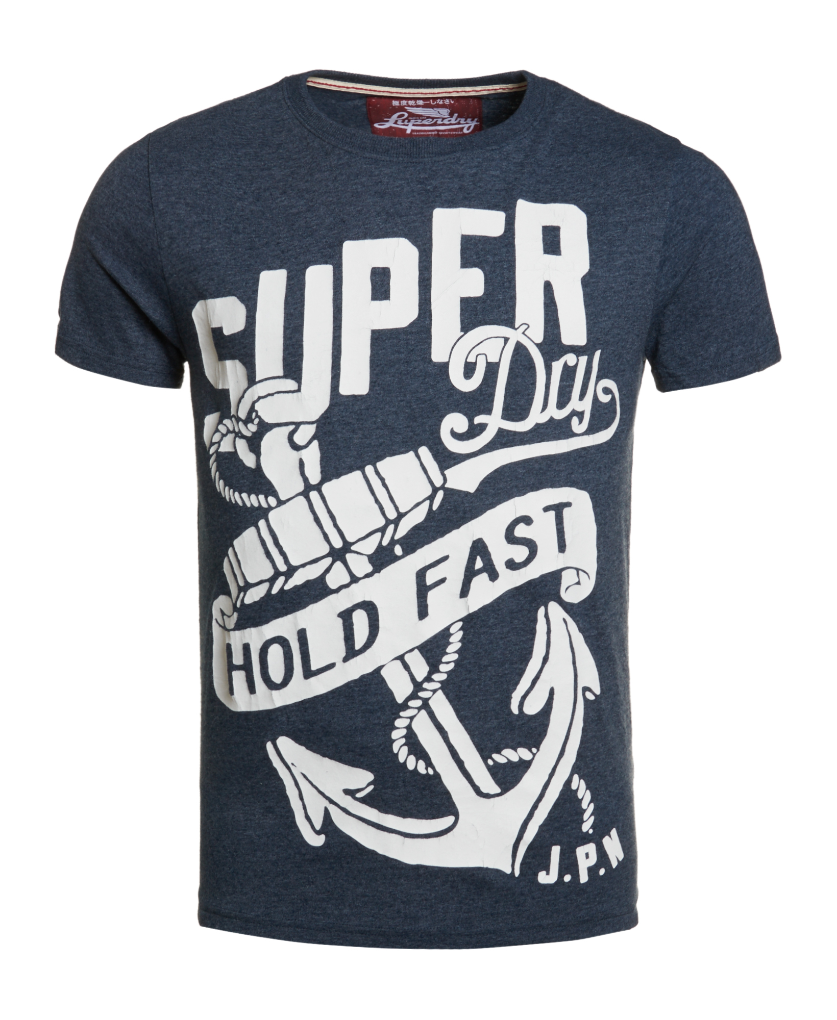 about new mens superdry factory second hold fast t shirt imperial navy. Black Bedroom Furniture Sets. Home Design Ideas