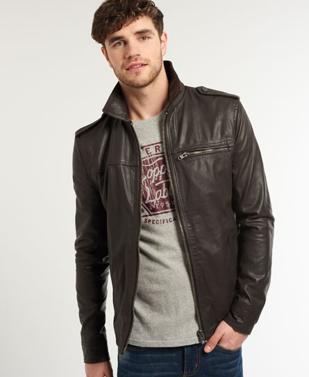superdry leather jacket size guide