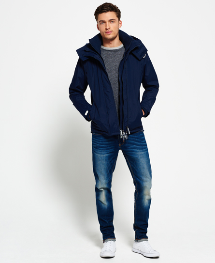 new mens superdry hooded sherpa windcheater nautical navy. Black Bedroom Furniture Sets. Home Design Ideas