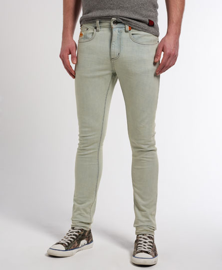 neue herren superdry super skinny jeans echo bleach ebay. Black Bedroom Furniture Sets. Home Design Ideas