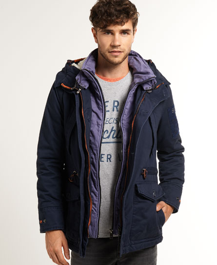 neue herren superdry badlands mountain jacke navy blau ebay. Black Bedroom Furniture Sets. Home Design Ideas