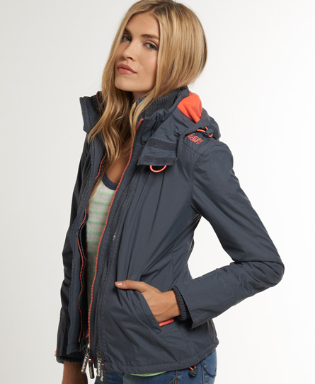 new womens superdry arctic windcheater mid charcoal ebay. Black Bedroom Furniture Sets. Home Design Ideas
