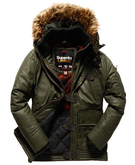 Mens superdry duffle jacket