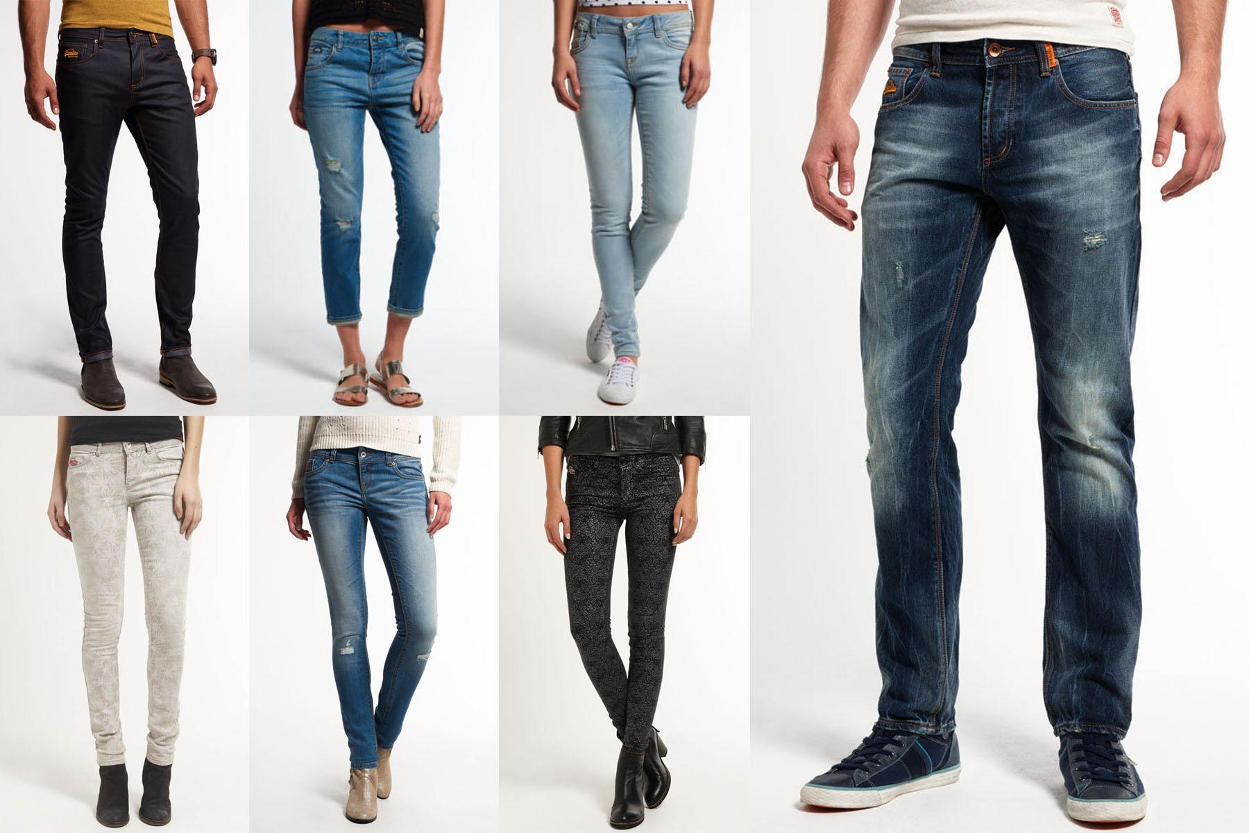 neue superdry f r m nner und frauen jeans versch modelle und farben 1407 ebay. Black Bedroom Furniture Sets. Home Design Ideas