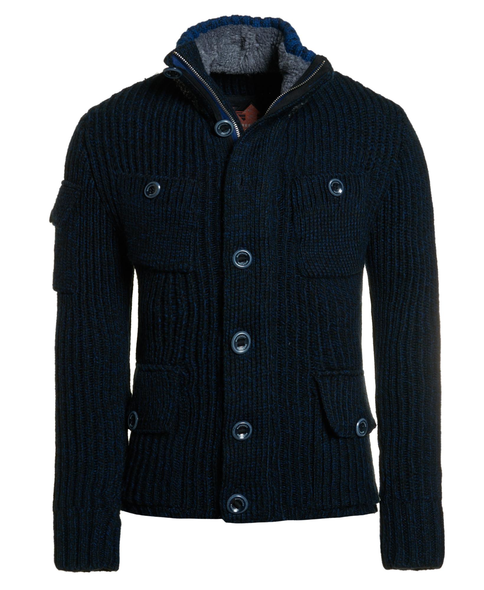 neuer herren superdry seaking 4 pocket field jacket seaking navy blend. Black Bedroom Furniture Sets. Home Design Ideas