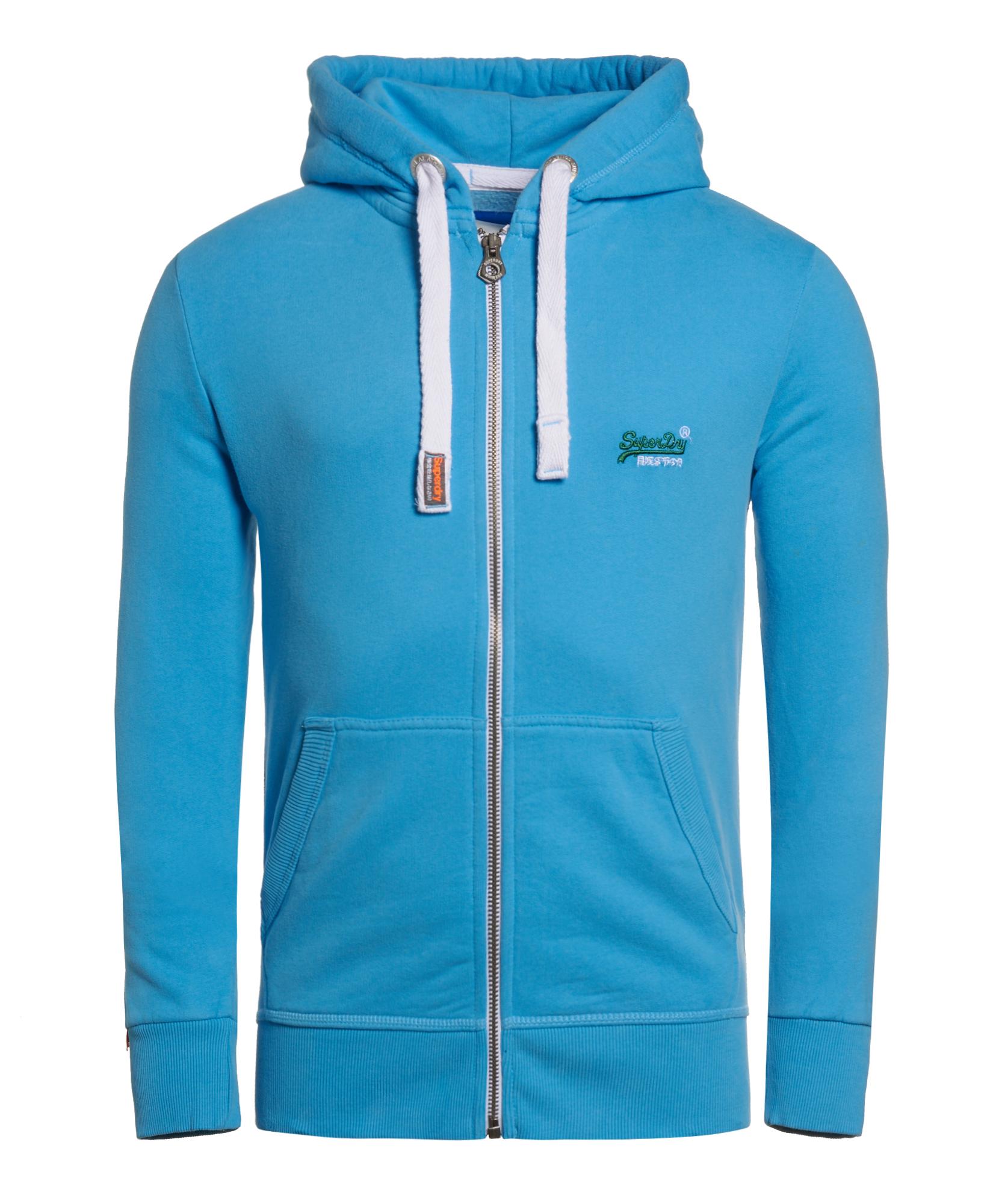 neuer herren superdry orange label primary zip hoodie soho blue ebay. Black Bedroom Furniture Sets. Home Design Ideas
