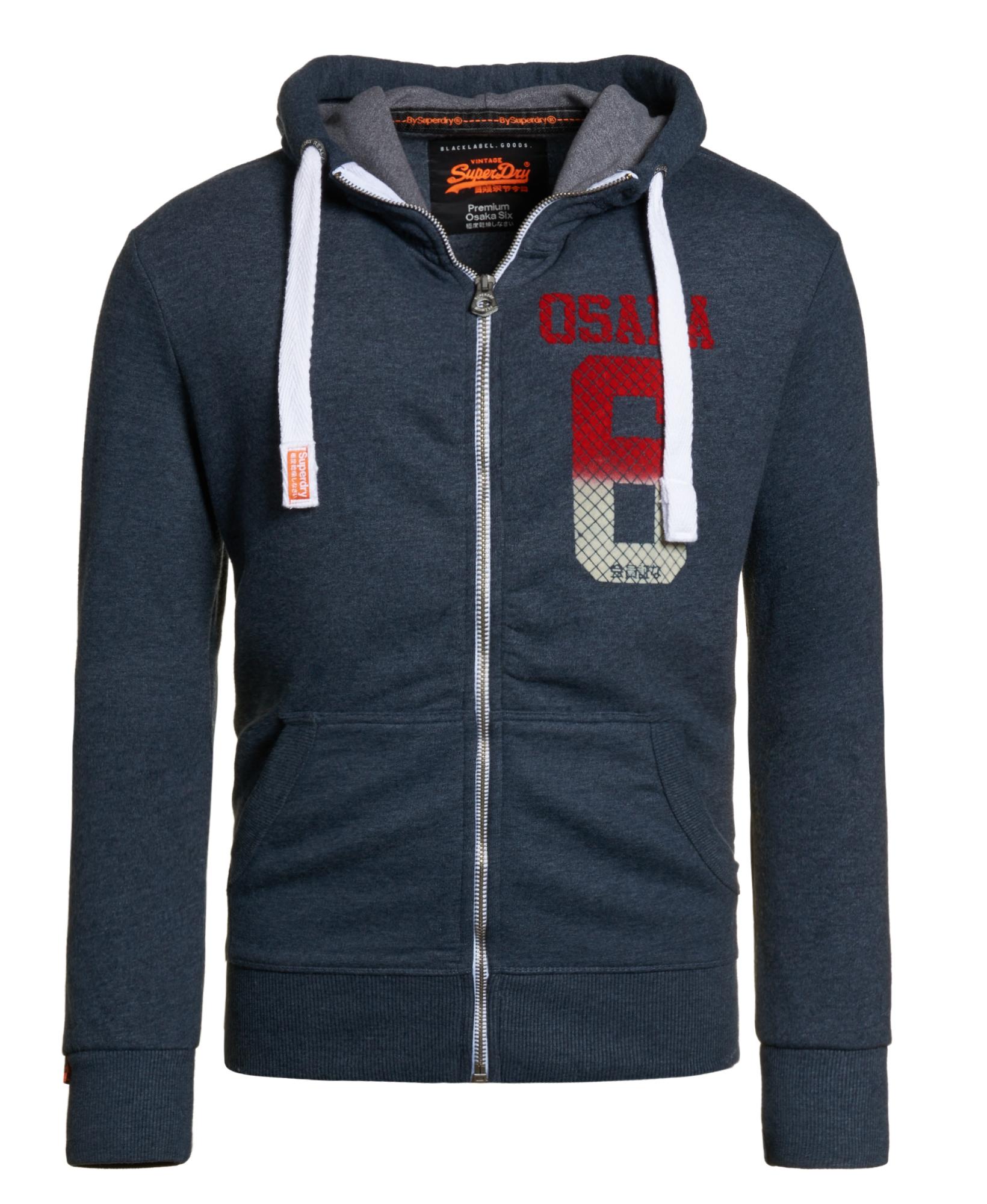 neuer herren superdry osaka mini quilt zip hoodie midnight marl ebay. Black Bedroom Furniture Sets. Home Design Ideas
