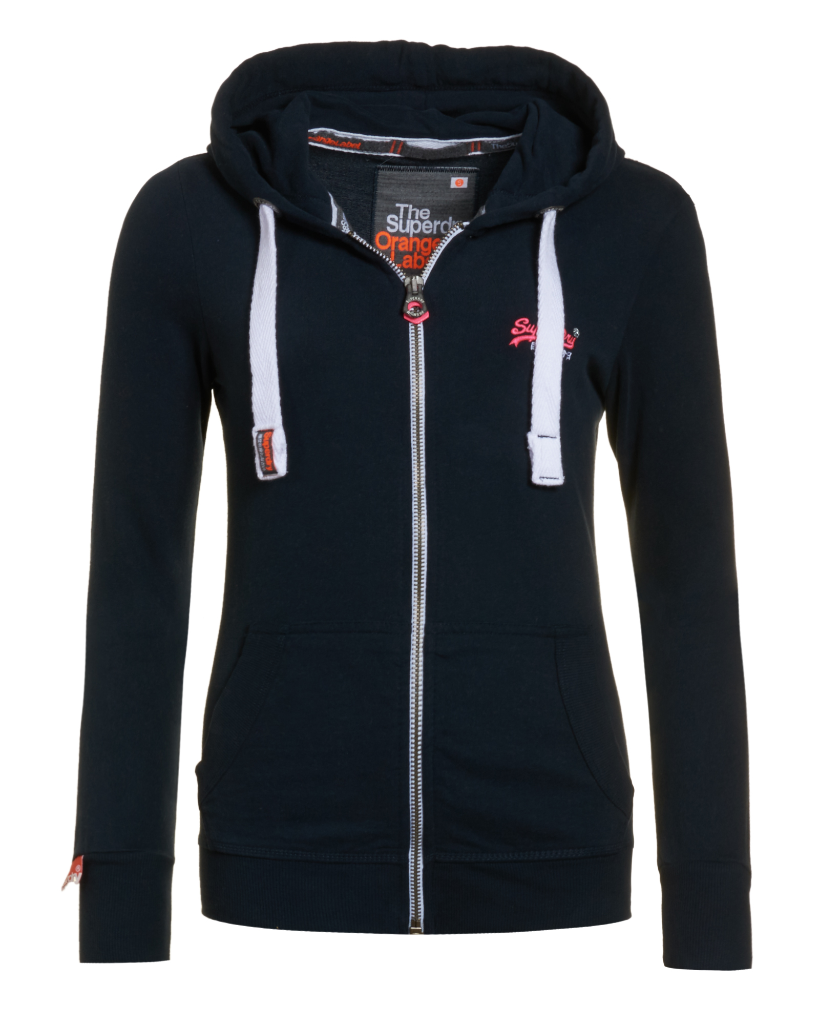 neuer damen superdry orange label lite zip hoodie eclipse. Black Bedroom Furniture Sets. Home Design Ideas