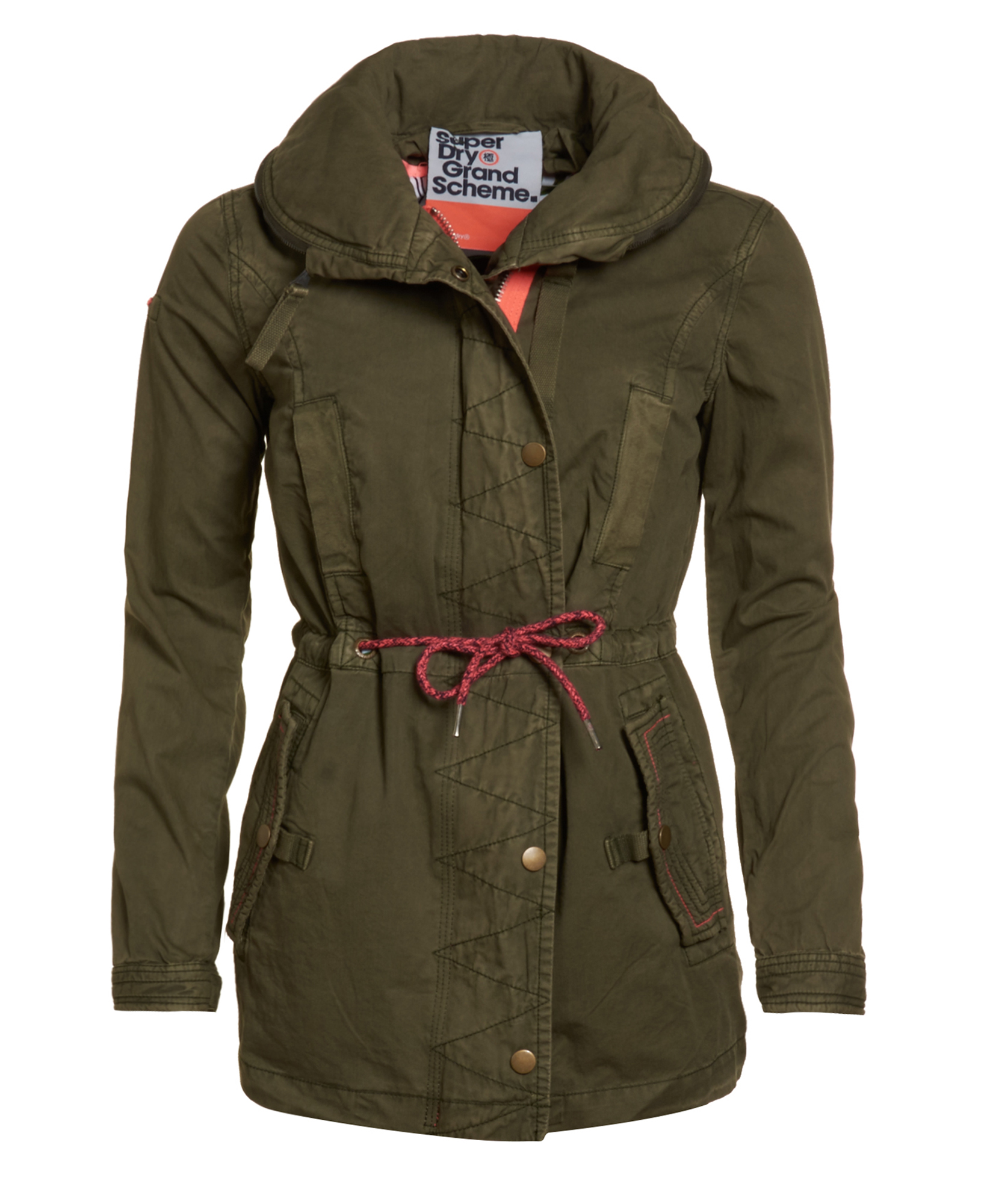 neue damen superdry grande scheme jungle parka true army. Black Bedroom Furniture Sets. Home Design Ideas