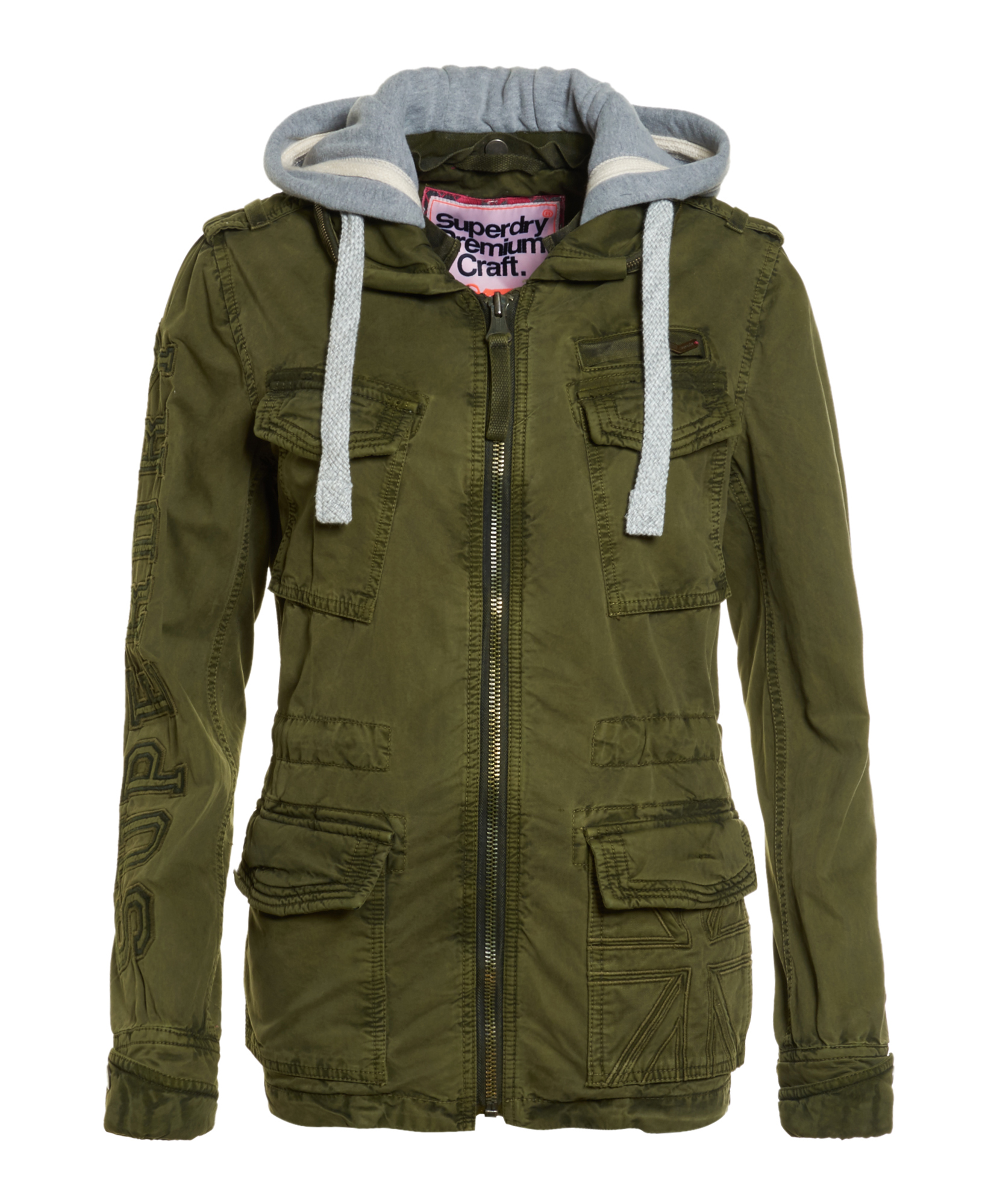 neue damen superdry craft army jacket army ebay. Black Bedroom Furniture Sets. Home Design Ideas
