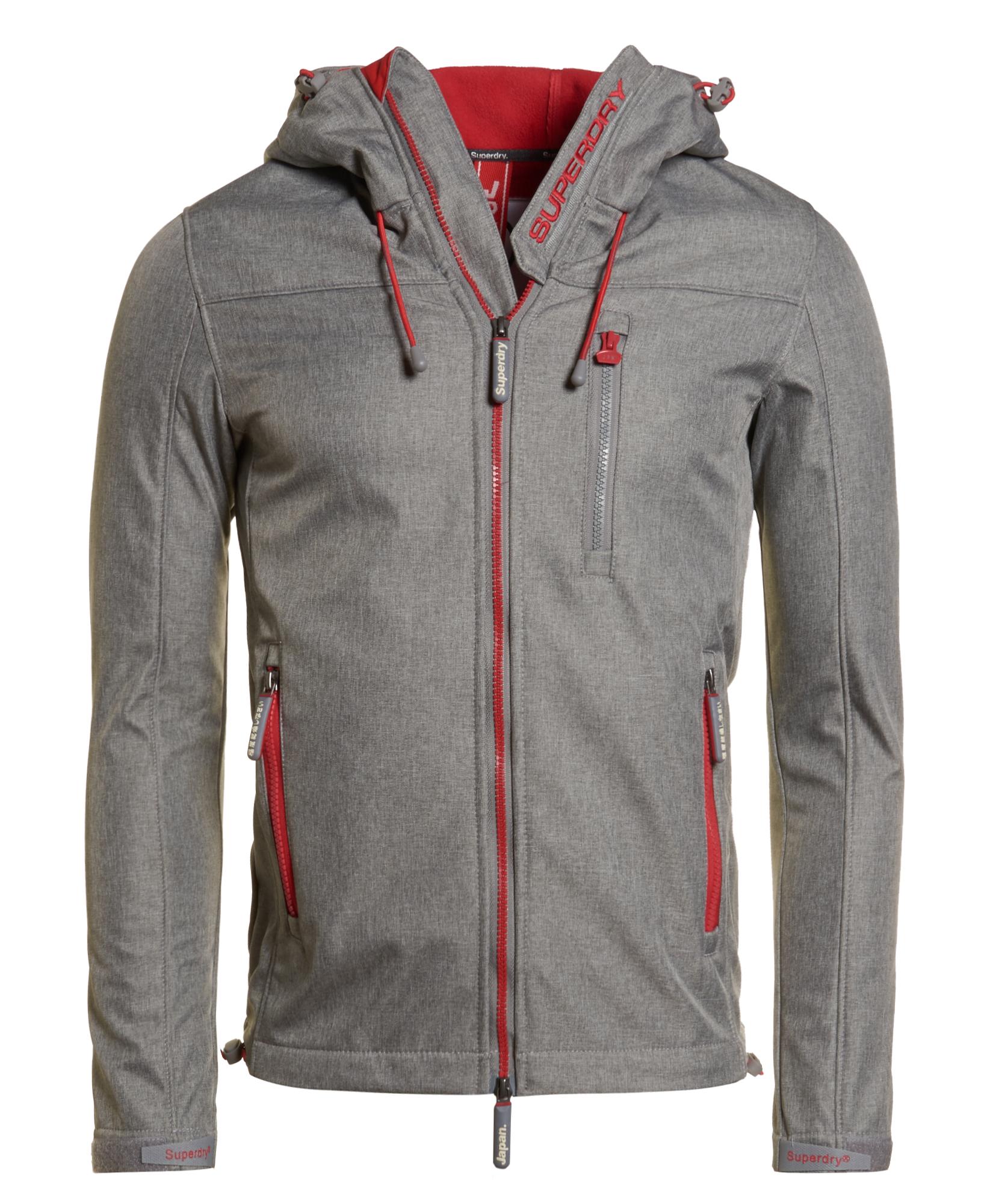 neue herren superdry hoodie windtrekker light grey marl ebay. Black Bedroom Furniture Sets. Home Design Ideas
