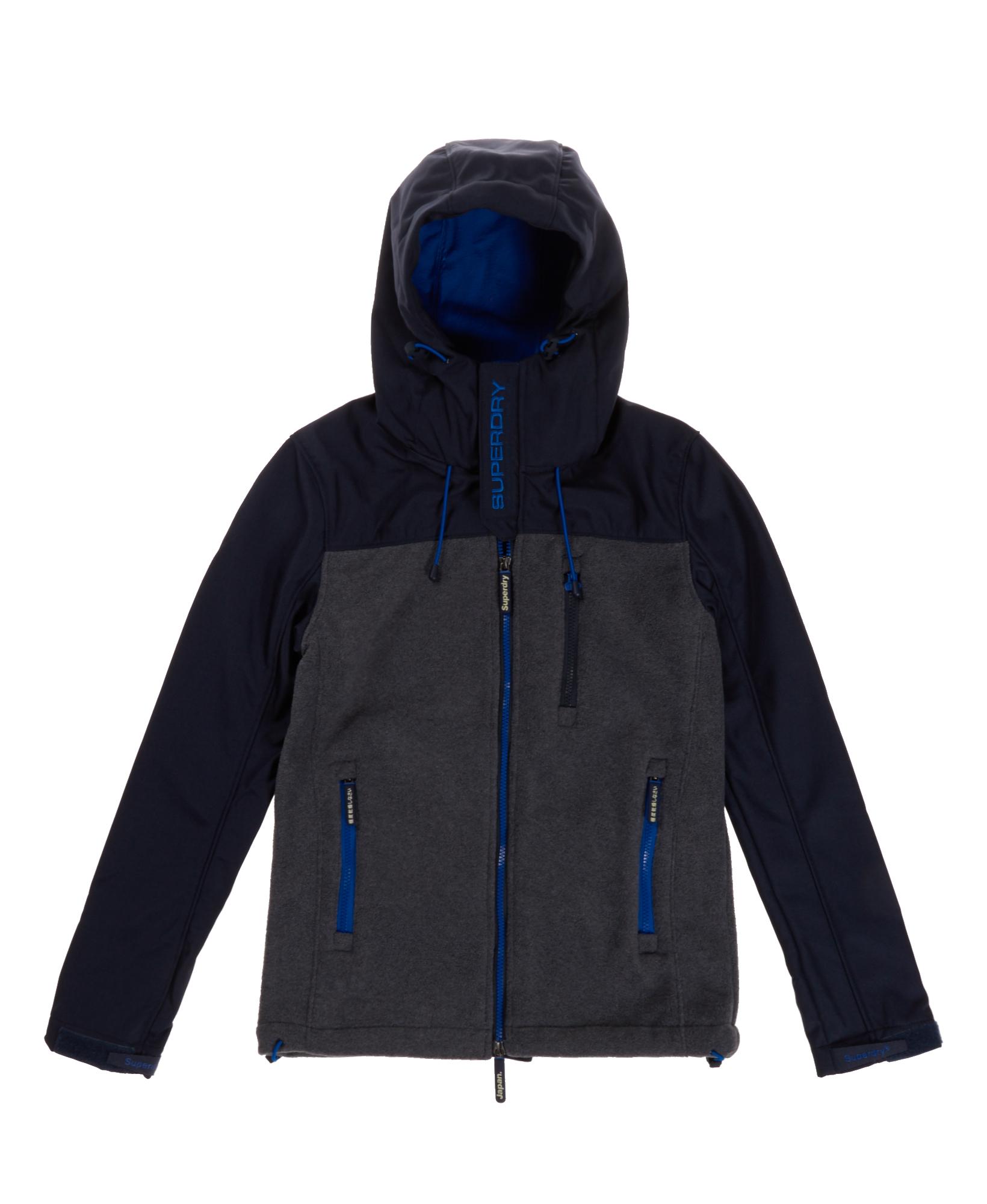 neue herren superdry hoodie polar windtrekker navy marl ebay. Black Bedroom Furniture Sets. Home Design Ideas