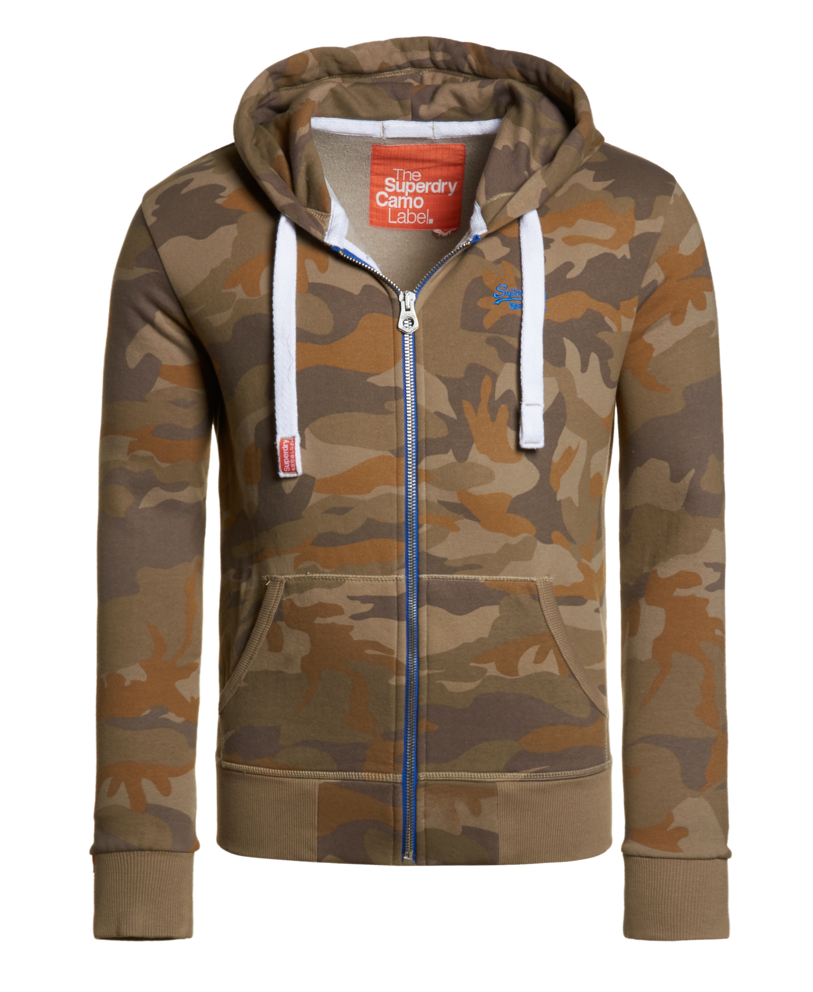neuer herren superdry camo label zip hoodie ejector camo. Black Bedroom Furniture Sets. Home Design Ideas