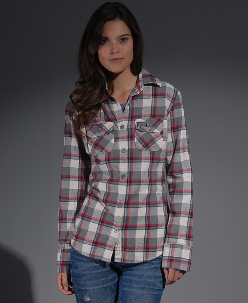 New Womens Superdry Lumberjack Twill Shirt MB