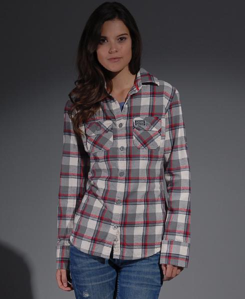 New-Womens-Superdry-Lumberjack-Twill-Shirt-MB