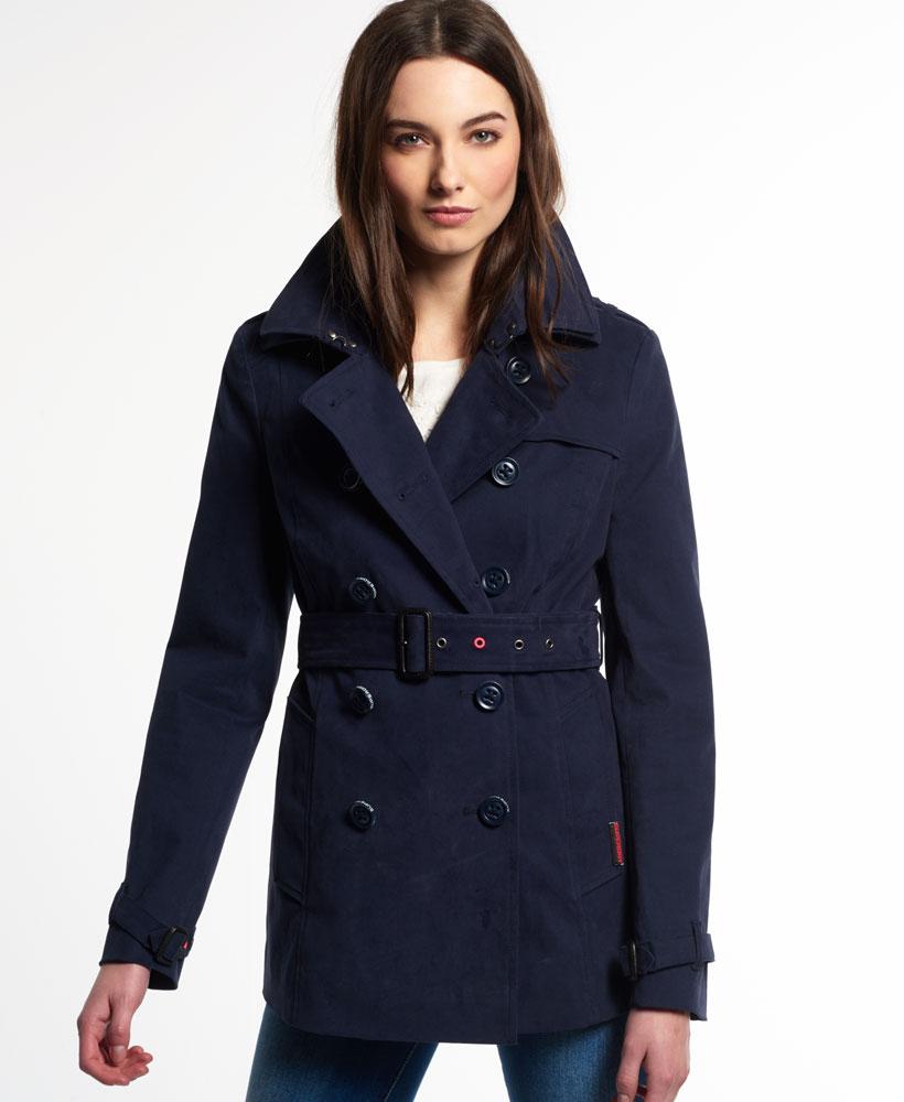 Navy trench coat women