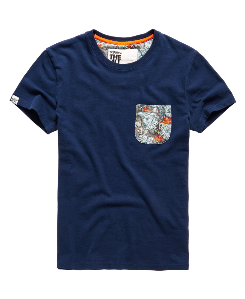 Neues herren superdry festival pocket all over print t for All over printing t shirts