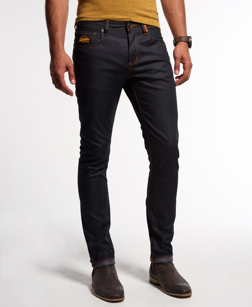 neue herren superdry standard skinny jeans full raw ebay. Black Bedroom Furniture Sets. Home Design Ideas