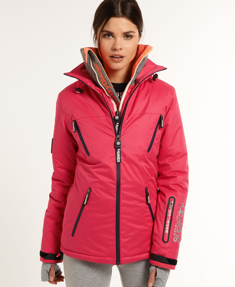 neue damen superdry glacier jacke alpine pink ebay. Black Bedroom Furniture Sets. Home Design Ideas